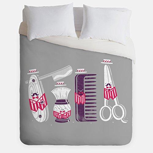Barbershop Quartet Duvet Cover / Mens Grooming Bedroom Decor / Made in USA / Great Bedroom Artwork by Fuzzy Ink