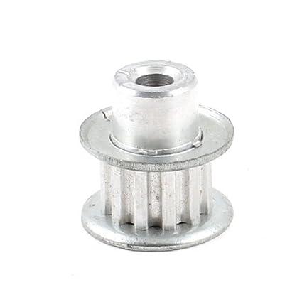 eDealMax tono Plata Tipo de aleación de aluminio de 6, 2 mm XL 12 Dientes Polea guía de diámetro interior - - Amazon.com