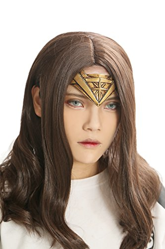 Xcoser Wonder Woman Wig Headband Set Movie Cosplay Costume Wig Accessories Adult