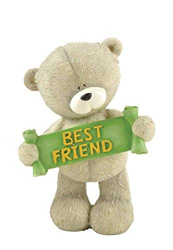 "ENNAS 3.9"" Tall Vintage Handmade Teddy Bear Statue Bear Sculpture for Friends Crafts"