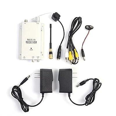 KingFurt Mini Camera Spy with Receiver Wireless Pinhole Micro Cam Complete Surveillance System CCTV Camera System from KingFurt
