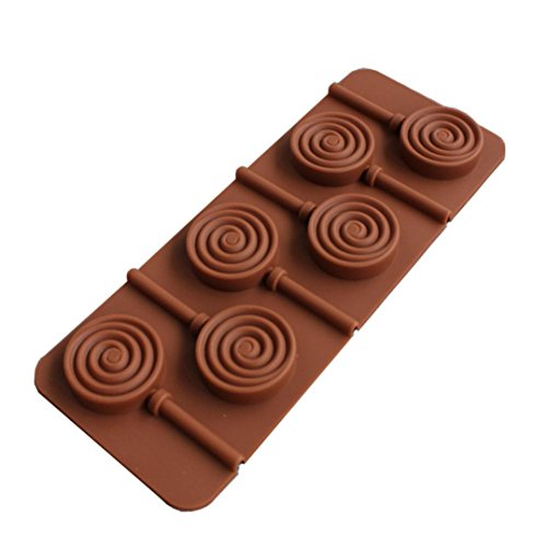 Coohole DIY Reusable Silicone Lollipop Chocolate Cake Decoration Mold For Party (B)