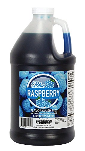 Concession Express Slush & Slushy Mix 1/2 Gallon (Blue Raspberry)