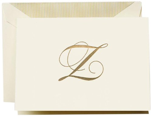 "UPC 031619669005, Crane & Co. Hand Engraved Script ""Z"" Initial Note (CF13Z1)"