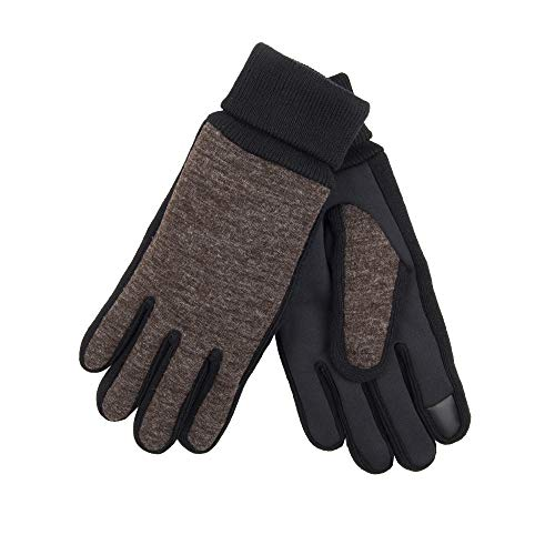 Extra Grip Gloves Jersey (Levi's Men's Jersey Touchscreen Gloves with Stretch Fabric Grip, brown Medium)