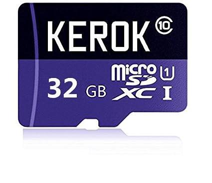 KEROK - Tarjeta de Memoria microSDHC DE 32 GB con Adaptador ...