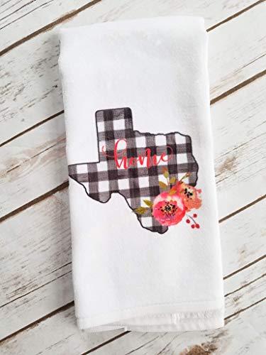 Texas State Buffalo Plaid Kitchen Bathroom Towel Home Decor Gift