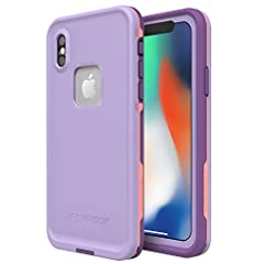Color:CHAKRA (ROSE/FUSION CORAL/ROYAL LILAC) With LifeProof FRĒ for iPhone X, you're free to venture off the beaten path and come back with proof of your triumphs. WaterProof, DirtProof, SnowProof and DropProof, FRĒ braves the elements while ...