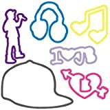 Silly Bandz Shaped Rubber Bands Bracelets 24Pack Justin Bieber