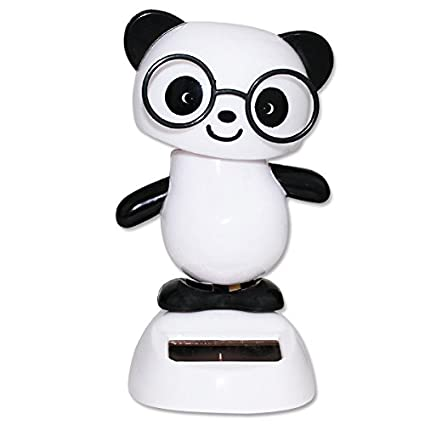 Dancing Panda With Black Glasses Solar Powered Toy Office Desk Home Decor Birthday Gift USA Seller