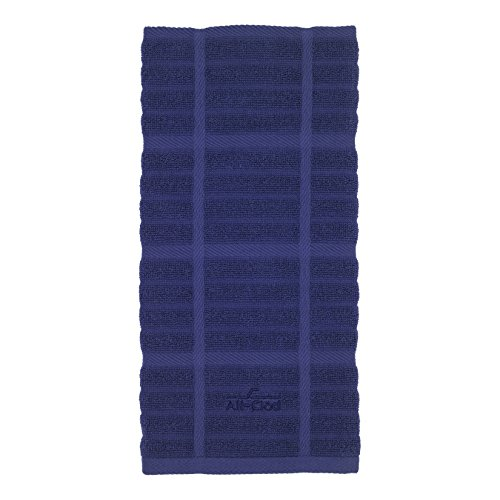 All-Clad Textiles 100-Percent Combed Terry Loop Cotton Kitchen Towel, Oversized, Highly Absorbent and Anti-Microbial, 17-inch by 30-inch, Solid, Colbalt Blue (Blue Towels Navy Kitchen)