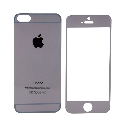 JustX Metalic Sparkling Dark Grey Front and Back Tempered Glass for IPhone 6Plus and 6sPlus