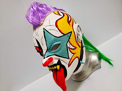 Psycho Wrestling MASK Latex MASK Luchador Costume Wrestler Lucha Libre Mexican Maske]()
