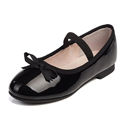 Alicorn Girl's Black Casual Slip On Bowknot Mary Jane Flat Shoes 13 M US Little Kid Jane Black Shoes