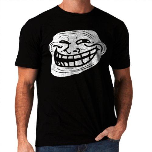 Trollface Troll Meme Problem Men's T-Shirt NEW Black S