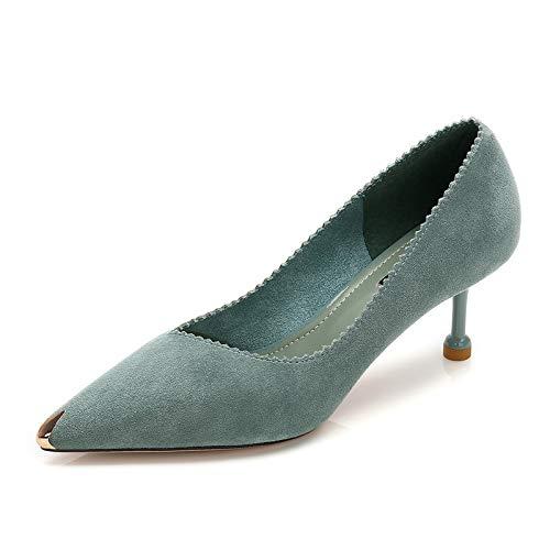 Gamuza Yukun De Salvaje Mujeres zapatos Gamuza Invierno Fino De Zapatos De Blue Otoño Tacón tacón E de con Alto Moda alto Solos CRSrCwq