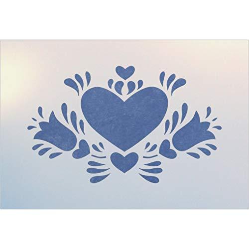 Dutch Heart 2 Stencil - The Artful Stencil ()