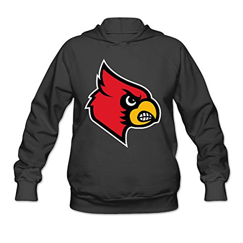 AUSIN Women's University Of Louisville Sweatshirt Black Size S