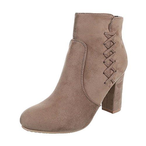 Zapatos para mujer Botas Mini tac—n Botines de tac—n Ital-Design bronzage