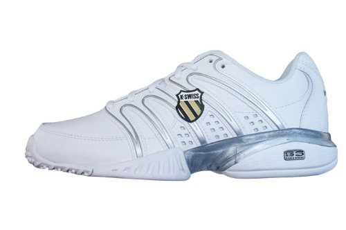 Womens Approach Tennis Shoes - K-Swiss Approach II Omni Womens Leather Tennis sneakers/Shoes - White - SIZE US 5.5