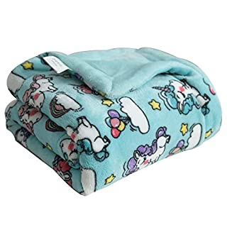 "Coosey Unicorn Fleece Baby Blanket Printed Thick Soft Lightweight Cozy Warm Plush Minky Baby Blanket for Toddler Newborns Kids, 30"" X 40"""