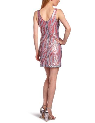 American Silver NINA Fuxia Kleid Damen Retro Mehrfarbig DRESS ZHFrwZq