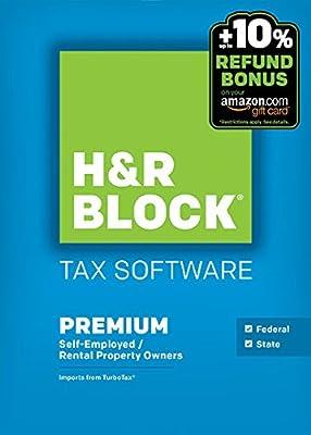 Block Financial H&R Block Tax Software 15 Premium + State - PC/MacDisc Twister Parent