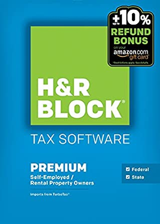 Amazon.com: H&R Block 2015 Premium + State Tax Software + Refund ...