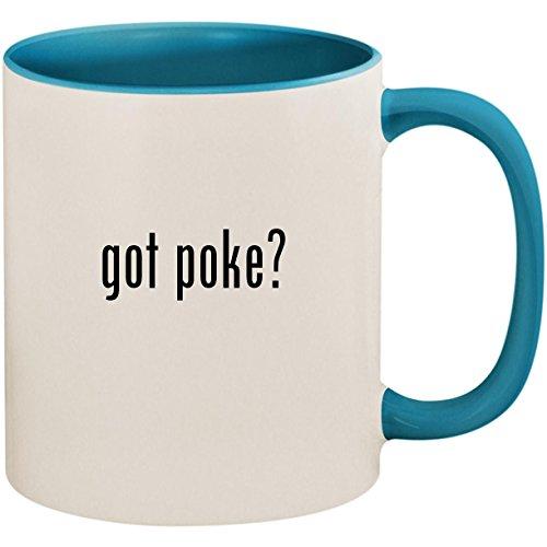 got poke? - 11oz Ceramic Colored Inside and Handle Coffee Mug Cup, Light ()