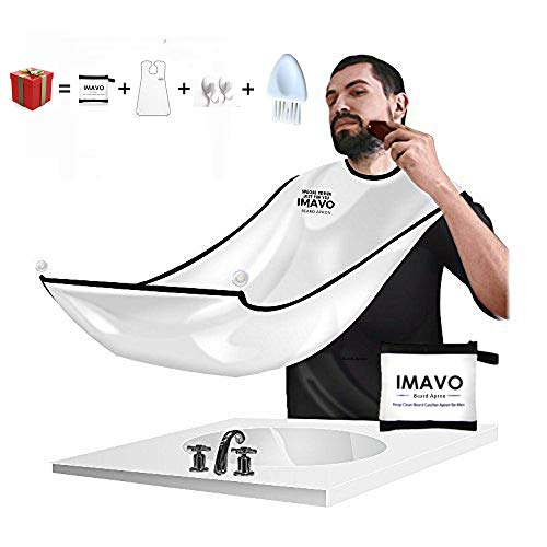 Beauty & Health Honey Compact Waterproof Beard Shave Apron Solid Color Men Household Bathroom Beard Trimming Apron Hair Shave Apron Styling Tools Caps, Foils & Wraps
