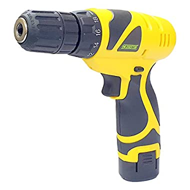 Cheston Plastic Cordless Drill Screw Driver 10mm Keyless Chuck 12V with One Battery 5