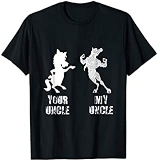 Birthday Gift Your Uncle vs My Uncle Funny Uncle Horse  Gift Tee Long Sleeve Funny Shirt / Navy / S - 5XL