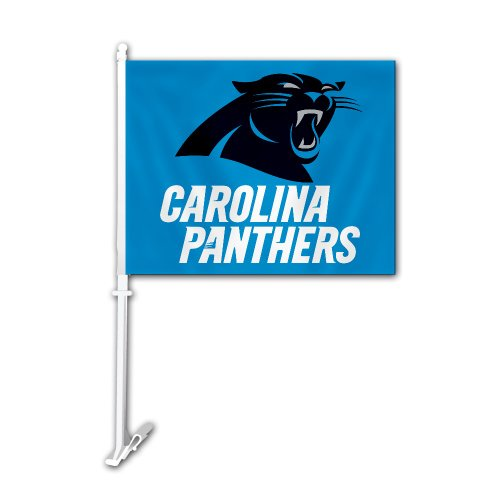 Sided Car Flag (Carolina Panthers Two Sided Car Flag)