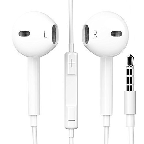Orginal Schpeix Kopfhörer in weiß für iPhone iPad iPod, Samsung, HTC, Sony, LG | In-Ear | Headset | Earpods | stylisches Design und hoher Tragekomfort ideal als Sport Kopfhörer