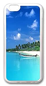ACESR Beach Paradise Lightweight iPhone 6 Cases, pc hard Case for Apple iPhone 6 (4.7inch) white