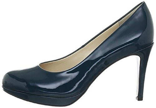 Women's HÖGL Smart High Heel Closed Pump Leather Court Shoes HO 33 Teal Patent (5900) Darkpetr V5fQW8n4q