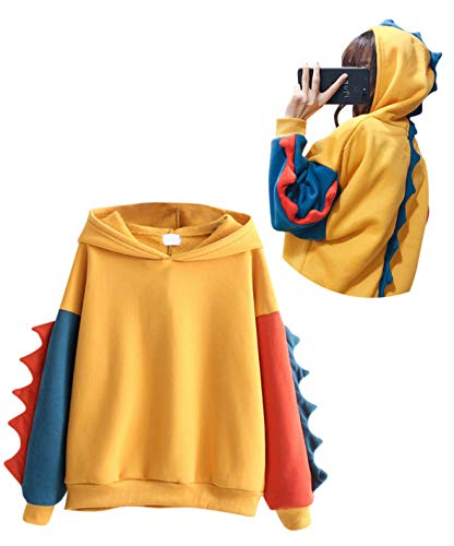 Adult Dinosaur Hoodie (CRB Fashion Womens Teens Animal Anime Cute Emo Dinosaur Cosplay Cartoon Shirt Hoodie Hoody Top Jumper Sweater)