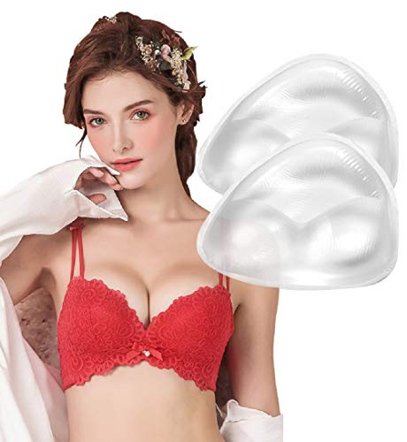 Silicone Breast Inserts, Waterproof Enhancers Clear Gel Push Up Bra Inserts for Swimsuits & Bikini