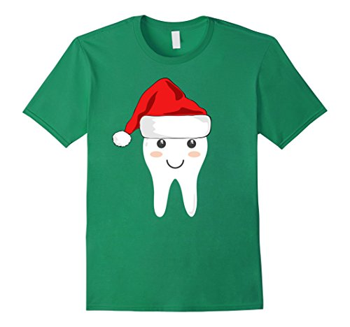 Tooth Fairy Costumes Ideas (Mens Funny Tooth Fairy Costume Shirt with Santa Cap for Christmas Small Kelly Green)