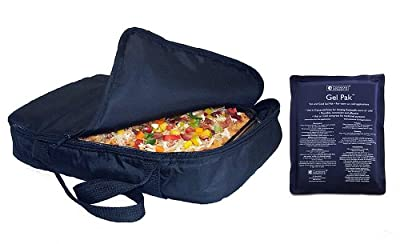 """Casserole Carrier and Food Warmer with Large Dual Use Hot Cold Pack - (Holds up to 11""""x17"""" Casserole)"""
