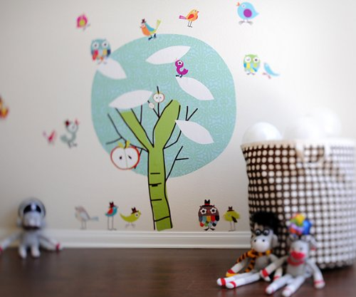 - Pop & Lolli Chirpie Tree, Chic Fabric Stickers