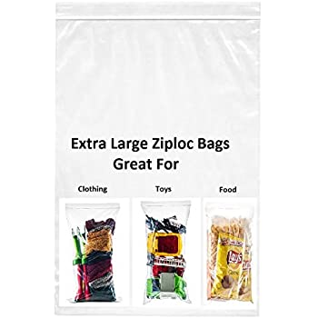 Amazon Com 30 Count Extra Large Zip Amp Lock Bags Thick