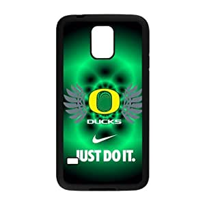 Hoomin NCAA Oregon Ducks Green Background Samsung Galaxy S5 Cell Phone Cases Cover Popular Gifts(Laster Technology)