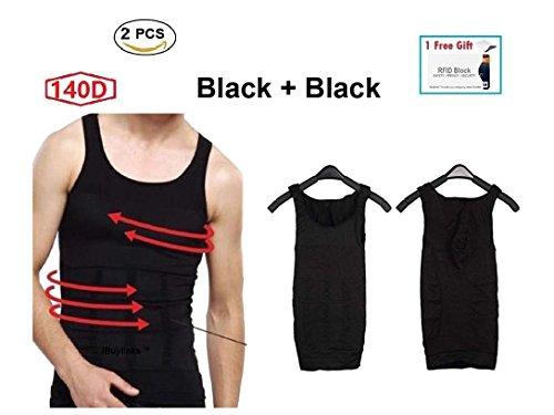 78ad7517dd5 2-pcs Mens Slim Body Shaper Compression Elastic Undershirt