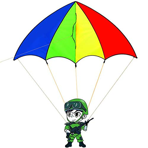 HENGDA KITE-Parachute Soldiers Kite for Kids-Outdoor Games Activities with 30m Line ()