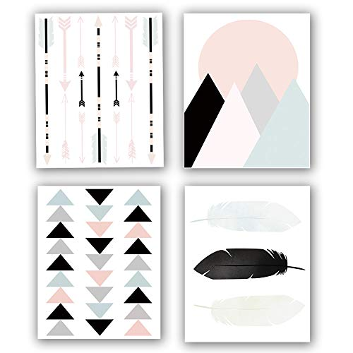 Modern Geometry Art Print Set of 4 (8
