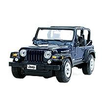 1:27 Die Cast Car Model Jeep Alloy Car Model SUV Car Toy (Dark-blue)