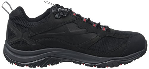 Columbia Terrebonne Outdry, Zapatillas de Senderismo para Hombre Negro (Black/ Mountain Red)