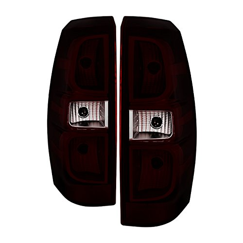 Jdragon for Chevy 2007-2013 Avalanche Red Smoke Replacement Rear Tail Brake Lights LS LT ()