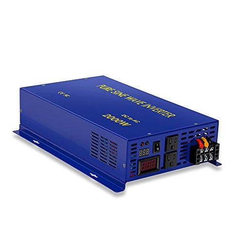 2000w 24v to 120v Pure Sine Wave Solar System Home Power Inverter Converter Generator by Generic